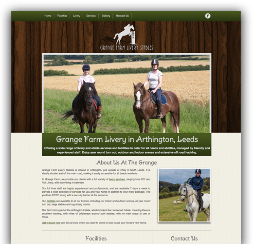 Grange Farm - Livery Yard Logo Design, Website Design and Website Development