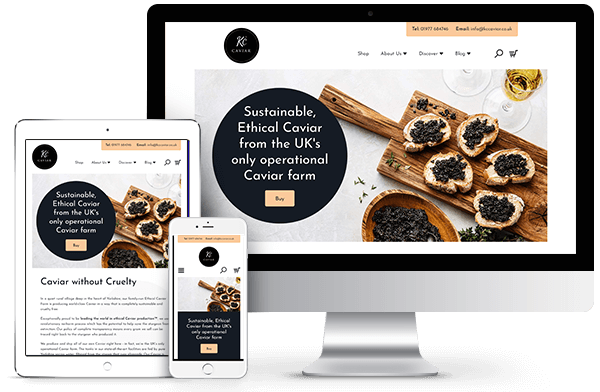 KC Caviar - Bespoke Shopify Ecommerce Website Development