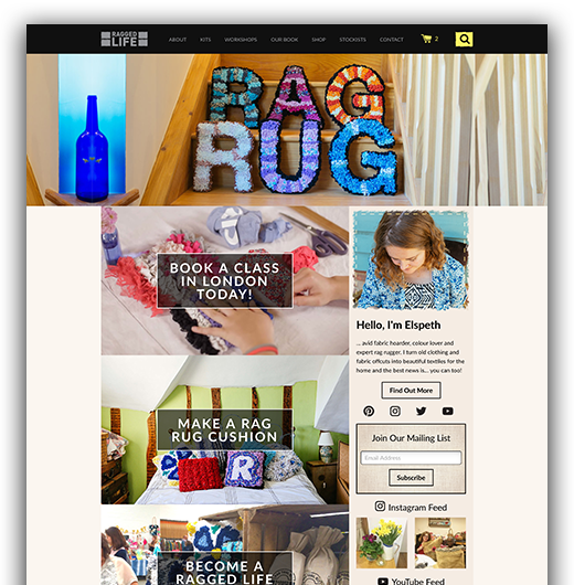 Ragged Life - Shopify Ecommerce Website Development
