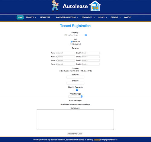E-Autolease Add Tenant Details Page With Custom Landlord Branding in CSS