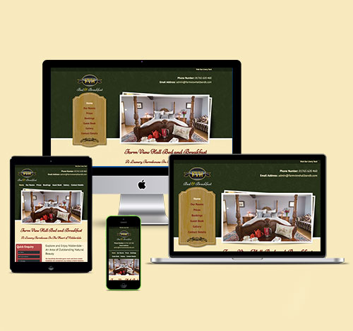 Farm View Hall Bed and Breakfast With Responsive Design For Desktop, Laptop, Tablet and Mobile