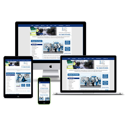GoodSense Responsive Website Design, Optimised For Tablet and Mobile Devices