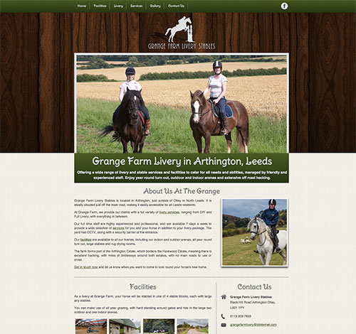 Grange Farm With Professional Photography and Designed Logo