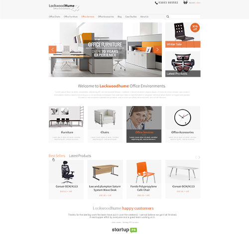 Lockwoodhume Ecommerce Site With Social Media, Wordpress Woocommerce CMS and Customer Accounts
