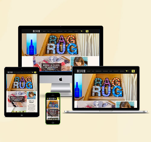 Ragged Life Website With Responsive Design For Desktop, Laptop, Tablet and Mobile