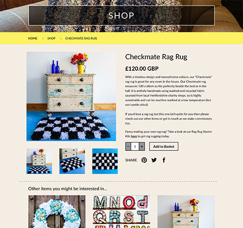 Ragged Life Ecommerce Website With A Range Of Products For Purchase And Full Admin Area With Shopify To Handle Orders