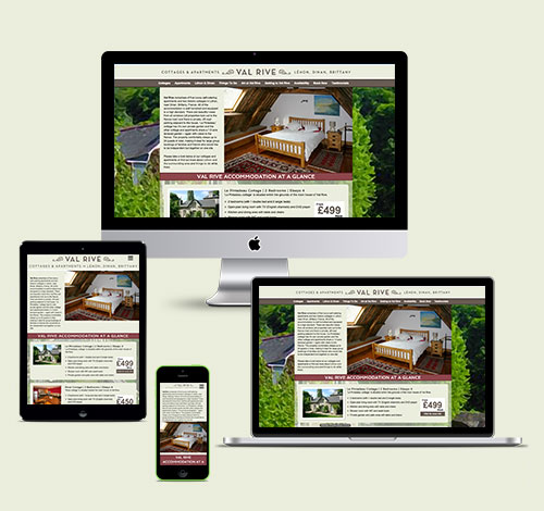 Val Rive Holiday Cottages and Apartments Responsive Screens For Desktop, Tablet and Mobile