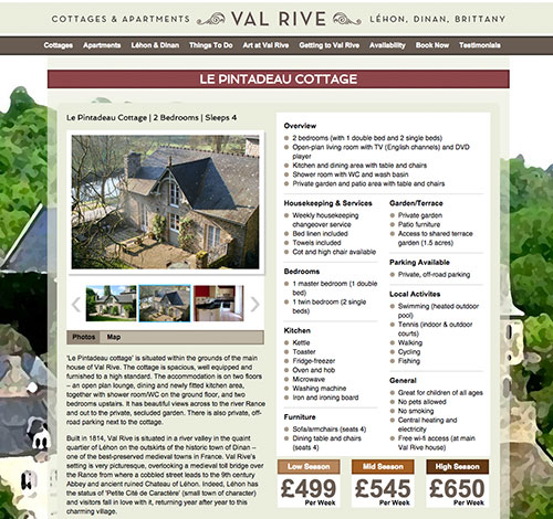 Val Rive Property Page With Image Gallery