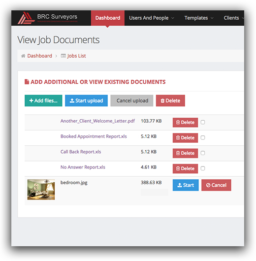 Bespoke Web Application With Document Upload and Download