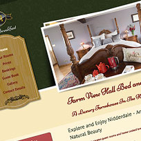 Farm View Hall Bed and Breakfast - Website Design and Development With Copy Writing, Slideshow and Dynamic Gallery
